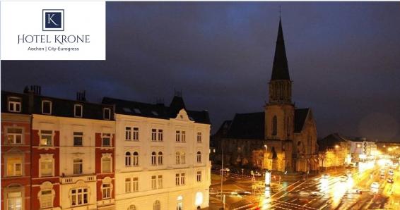 Aachen: 3 Tage für 2 Personen, Doppelzimmer, Frühstück im Hotel Krone Aachen   City-Eurogress für 99€